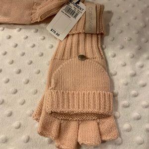 New Calvin Klein Tonal Label Flip Top Gloves
